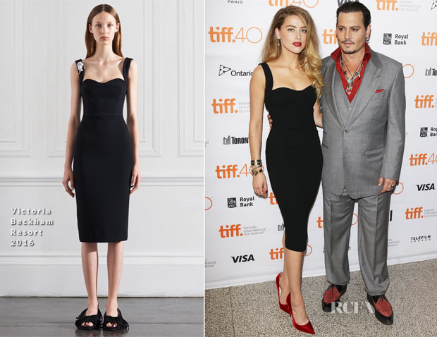 Amber Heard In Victoria Beckham - 'Black Mass' Toronto International Film Festival Premiere