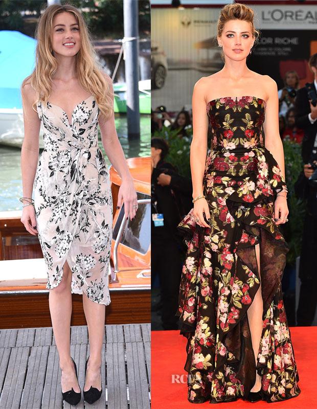 Amber Heard In Zimmermann & Alexander McQueen - 'Danish Girl' Venice Film Festival Photocall & Premiere