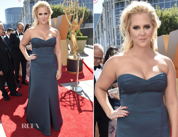 Amy Schumer In Zac Posen - 2015 Emmy Awards