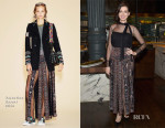 Anne Hathaway In Valentino - 'The Intern' New York Screening