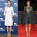 Bérénice Bejo In Monique Lhuillier & Zuhair Murad Couture - 'The Childhood Of A Leader' Photocall -& El Clan' Venice Film Festival Premiere