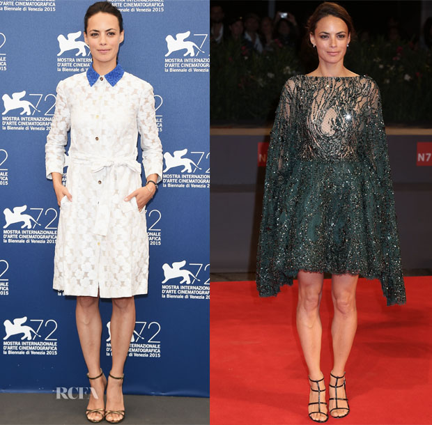 Berenice Bejo In Monique Lhuillier & Zuhair Murad Couture - 'The Childhood Of A Leader' Photocall -& El Clan' Venice Film Festival Premiere