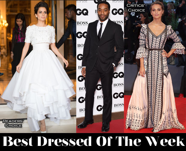 Best Dressed Of The Week - Kangana Ranaut In Ralph & Russo Couture, Alicia Vikander In Louis Vuitton & Chiwetel Ejiofor In Burberry Tailoring