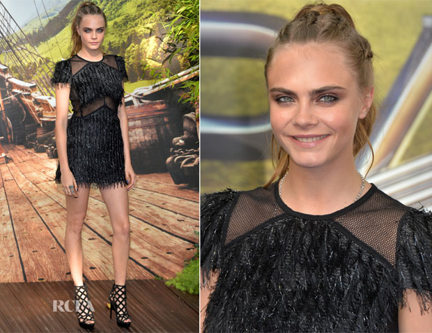 Cara Delevingne In Burberry - 'Pan' World Premiere