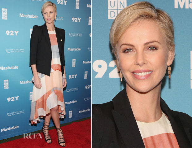 Charlize Theron In Zimmermann - 2015 Social Good Summit