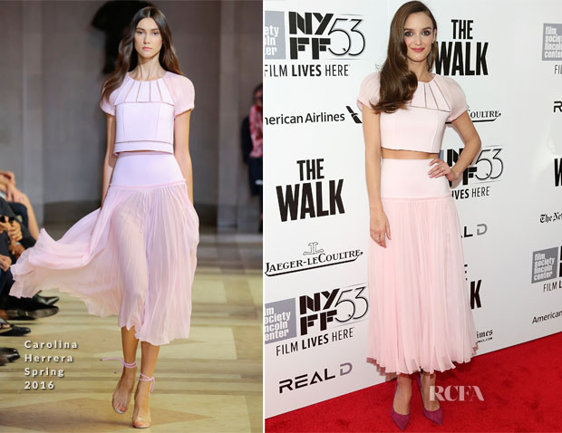 Charlotte Le Bon In Carolina Herrera - 'The Walk' New York Film Festival Opening Night Gala Presentation