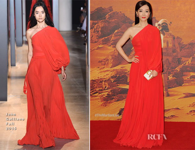 Chen Shu In John Galliano - 'The Martian' London Premiere