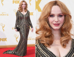 Christina Hendricks In Naeem Khan - 2015 Emmy Awards
