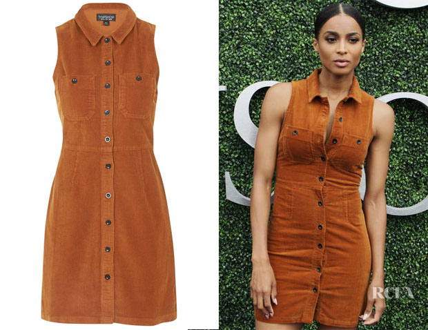 Ciara's Topshop Cord Button Front Dress