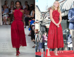Claire Danes In Oscar de la Renta - Hollywood Walk of Fame Unveiling