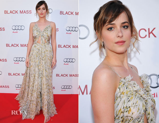 Dakota Johnson In Alexander McQueen - 'Black Mass' Toronto Film Festival Premiere