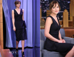 Dakota Johnson In Christian Dior - The Tonight Show Starring Jimmy Fallon