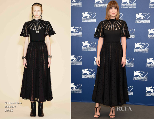 Dakota Johnson In Valentino - 'Black Mass' Venice Film Festival Photocall