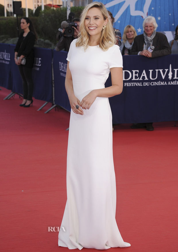 DEAUVILLE, FRANCE - SEPTEMBER 09:  Elizabeth Olsen arrives at the 'Ruth And Alex' Premiere during the 41st Deauville American Film Festival on September 9, 2015 in Deauville, France.  (Photo by Francois G. Durand/WireImage)
