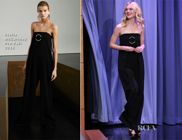 Elle Fanning In Stella McCartney - The Tonight Show Starring Jimmy Fallon