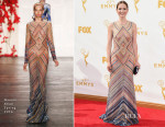 Ellie Kemper In Naeem Khan - 2015 Emmy Awards