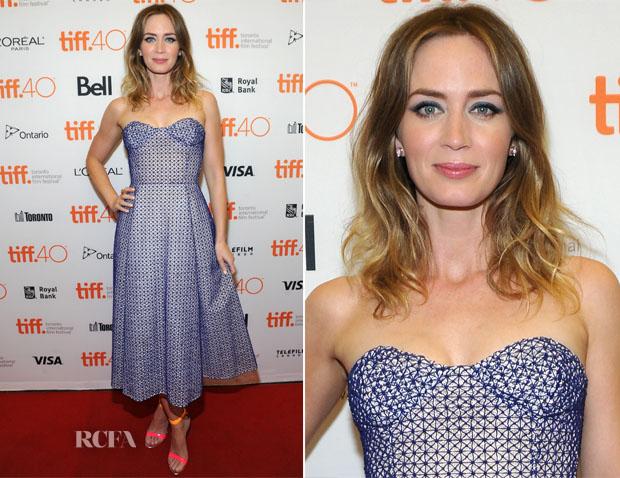 Emily Blunt In Christian Dior Couture -  'Sicario' Toronto Film Festival Premiere