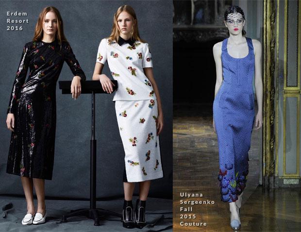 Emily Blunt In Erdem & Ulyana Sergeenko Couture