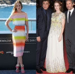 Emily Blunt In Jonathan Saunders & Giambattista Valli - 'Sicario' San Sebastian Film Festival Photocall & Premiere