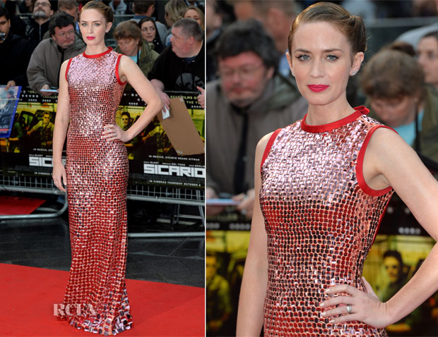 Emily Blunt In Prada  - 'Sicario' London Premiere