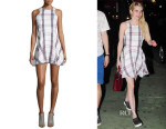 Emma Roberts' Lovers + Friends  Sadie Fit-&-Flare Plaid Dress