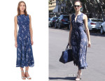 Emmy Rossum's Rebecca Taylor Wisteria Print Dress