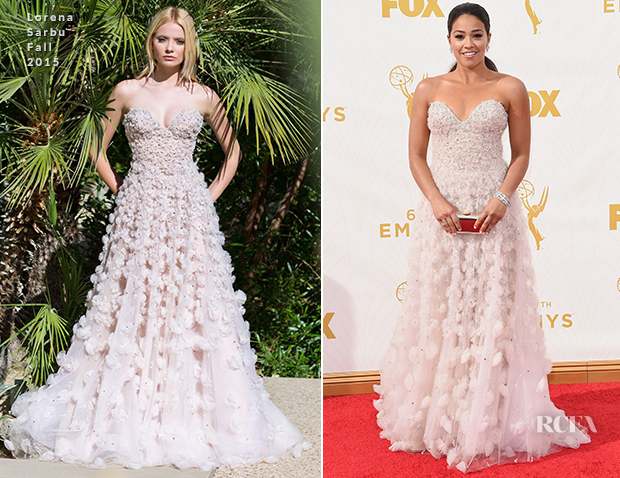 Gina Rodriguez In Lorena Sarbu - 2015 Emmy Awards
