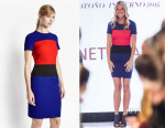 Gwyneth Paltrow French Connection Lula Colour Block Dress