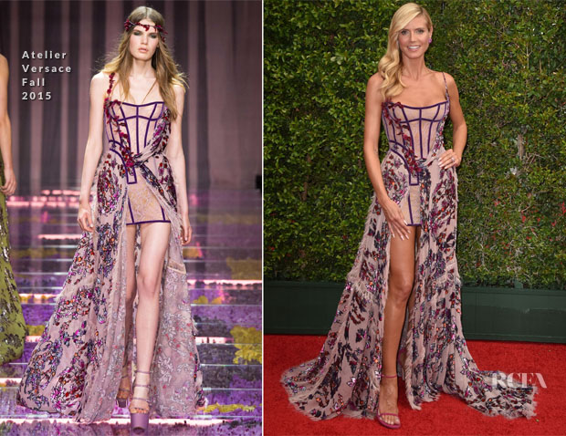 Heidi Klum In Atelier Versace - 2015 Creative Arts Emmy Awards