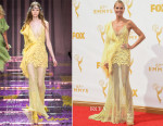 Heidi Klum In Atelier Versace - 2015 Emmy Awards