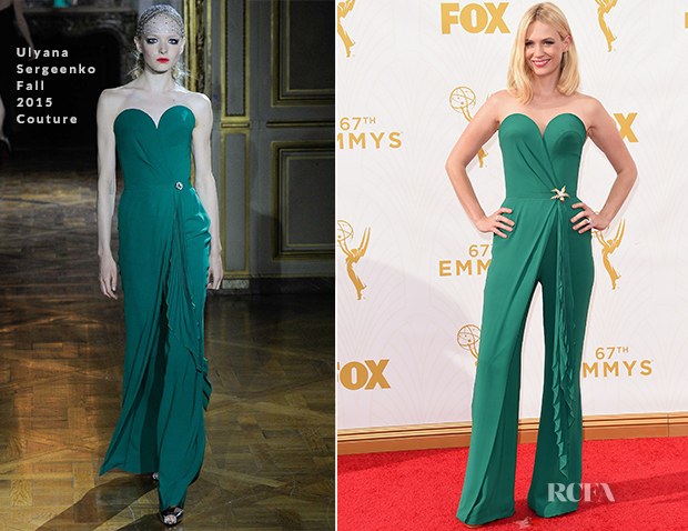 January Jones In Ulyana Sergeenko Couture - 2015 Emmy Awards