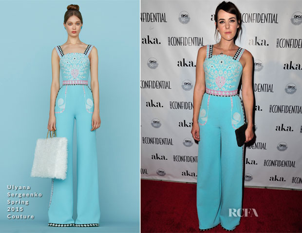 Jena Malone In Ulyana Sergeenko Couture - Los Angeles Confidential October Issue Cover Party