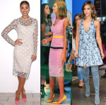 Jessica Alba In Jonathan Saunders, Roksanda & Thakoon - Honest Beauty Launch & Good Morning America
