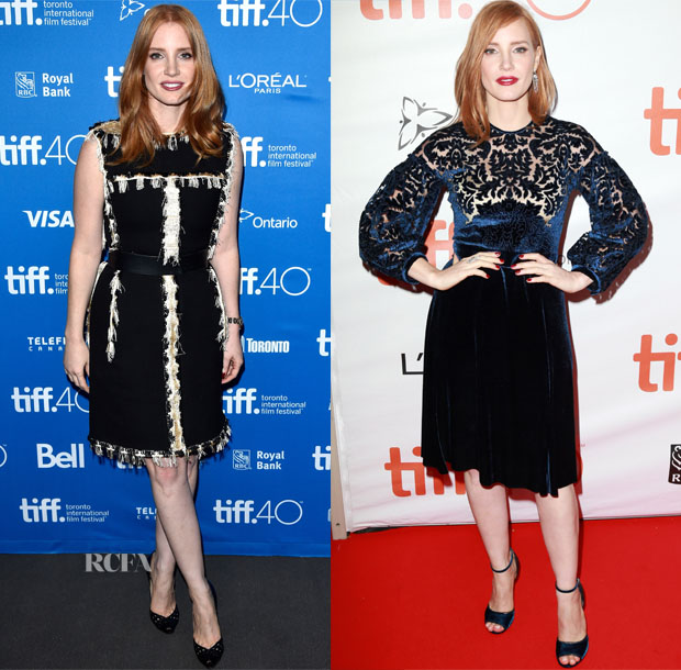 Jessica Chastain In Lanvin & Givenchy - 'The Martian' Toronto Film Festival Photocall & Premiere