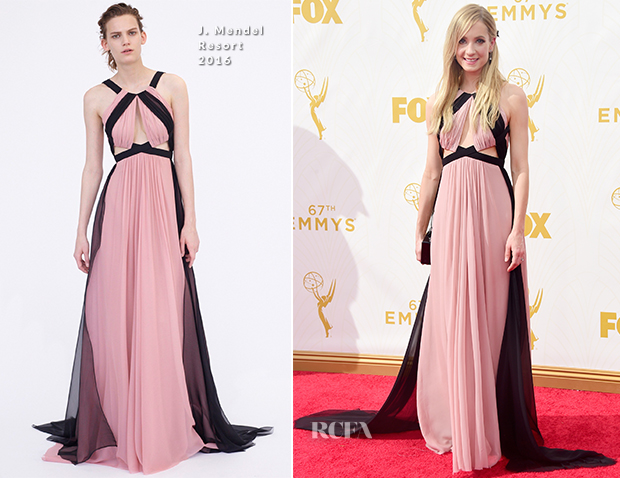 Joanne Froggatt In J. Mendel - 2015 Emmy Awards