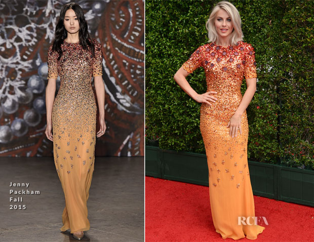 Julianne Hough In Jenny Packham - 2015 Creative Arts Emmy Awards
