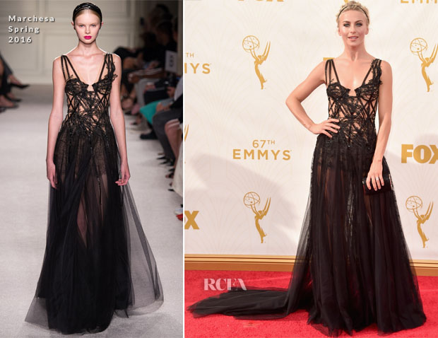 Julianne Hough In Marchesa - 2015 Emmy Awards