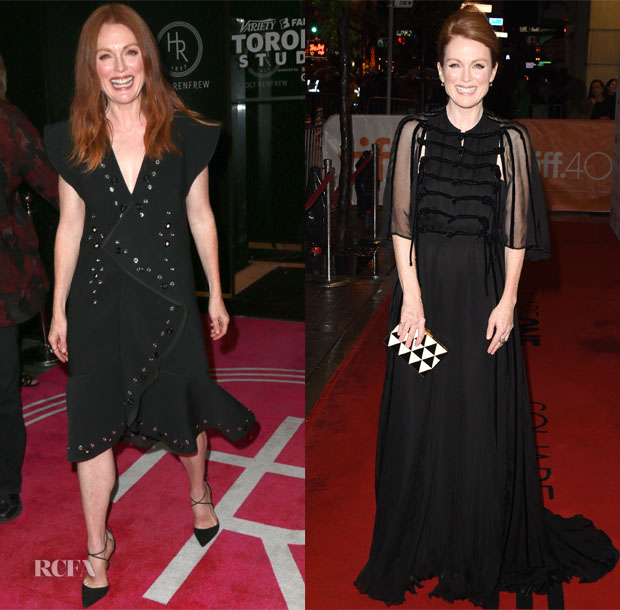 Julianne Moore In Proenza Schouler, Valentino Couture, Sonia Rykiel & BOSS - 2015 Toronto International Film Festival