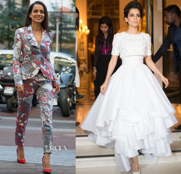Kangana Ranaut In Prabal Gurung & Ralph & Russo Couture - 'Queen' Paris Premiere