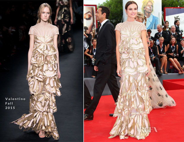 Kasia Smutniak In Valentino - 'Everest' Venice Film Festival Premiere & Opening Ceremony
