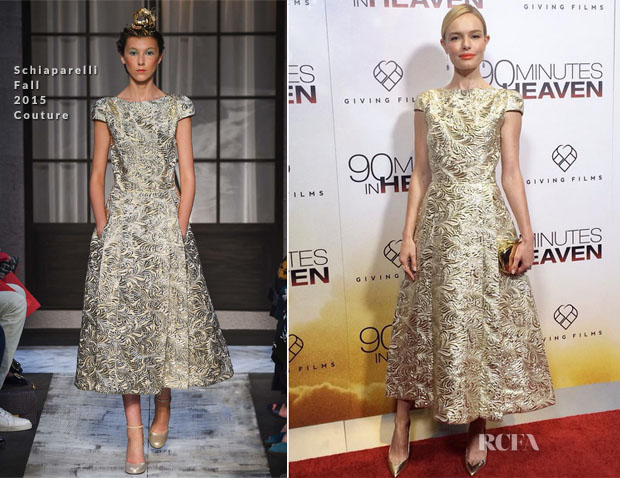 Kate Bosworth In Schiaparelli Couture -  '90 Minutes in Heaven' New York Premiere