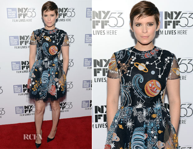 Kate Mara In Valentino - 'The Martian' New York Film Festival Premiere