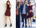 Kate Mara's Forever 21 Genuine Suede Sheath Dress