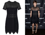 Kate Mara's Self-Portrait Evie Wave-Lace Mini Dress