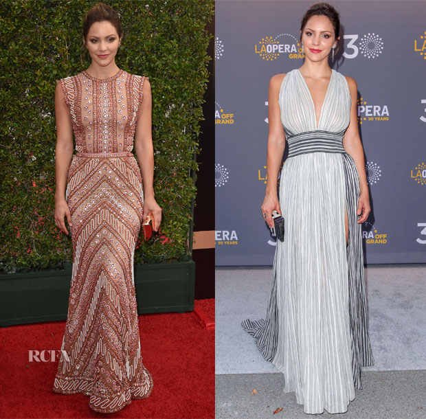 Katharine McPhee In Naeem Khan & Sophie Theallet  - 2015 Creative Arts Emmy Awards & LA Opera's 30th Anniversary Season Opening Night