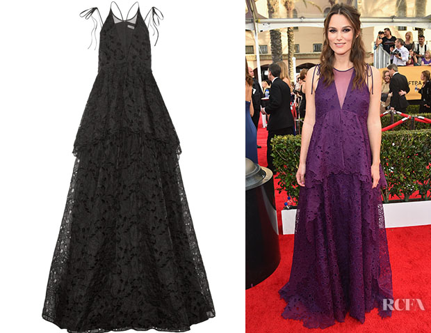 Keira Knightley's Erdem Kaila Broderie Anglaise Silk-Organza Gown