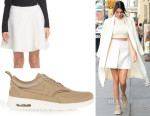 Kendall Jenner's Acne Studios 'Perla Boiled' Full Skirt & Nike Air Max Thea Leather Sneakers