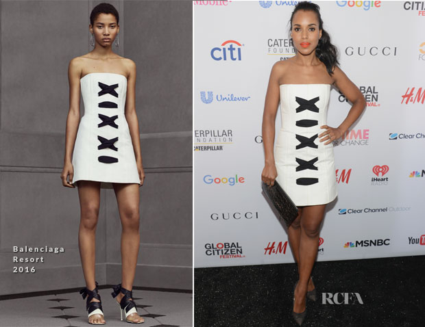 Kerry Washington In Balenciaga - 2015 Global Citizen Festival In Central Park To End Extreme Poverty By 2030