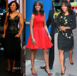 Kerry Washington In Balenciaga & Giambattista Valli - Jimmy Kimmel Live, Good Morning America & Live with Kelly & Michael