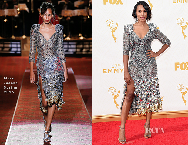 Kerry Washington In Marc Jacobs - 2015 Emmy Awards